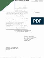 Memorandum of Law FILED