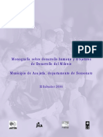 Monografía sobre desarrollo humano y Objetivos de Desarrollo del Milenio