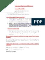 Funciones de Los Organismos Autónomos (Pierre)