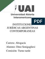 Instituciones Jurídicas Argentinas Contemporaneas