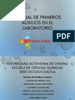 Manual de Primeros Auxilios en El Laboratorio (Gutiérrez)