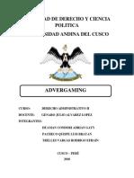 Advergaming Derecho Administrativo II