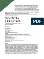 Adolfobioy Casares - Inventia lui Morel.doc