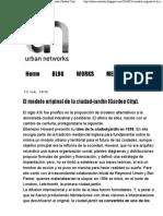 El Modelo Urbano de Ciudad Jardín de Ebenezdr Howard