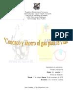 1er Proyecto Conozco y Ahorro El Gas Para La Vida- 4to Grado