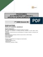 Programme GBM