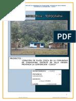 Informe Topografico- Villa Virgen - Chancavine - Plaza Civica