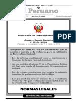 Decreto Supremo - Convocatoria a referéndum 2018
