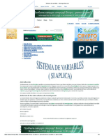 sistemas de variables