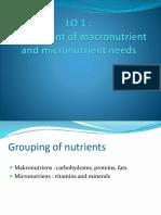 LO 2 Minggu 3 Kebutuan Makronutrien Dan Mikronutrien