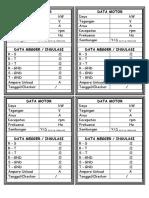 Label Data Motor + Megger