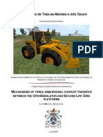 Mechanisms of Three-Dimensional Content Transfer Between the Opensimulator and Second Life Grid Platforms