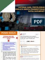 Laporan Penyelidikan Dusta Ratna Sarumpaet