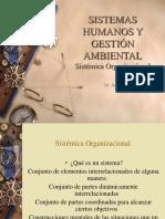 Sistemas Humanos y Gestión Ambiental