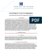 Learn to Learn Languages