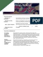teaching resume - for website