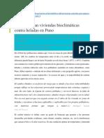 PerúDiseñan Viviendas Bioclimáticas Contra Heladas en Puno