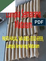 PASTI HALAL, WA 0821-3332-6959, Lumpia Semarang Mataram
