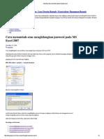 Membuat Dan Merubah Pasword Pada Excel