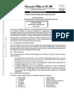 Convocatoria Articulos Cientificos - Posdoctorado en Epistemología e Investigación