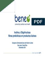 Inulina y Oligofructosa Fibras Prebioticas en Productos Lacteos