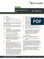 Test Method RC 42401 Determination of Retroreflectivity of Pavement Markings (1)