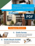 TERMURAH, Jasa Arsitek Rumah Jakarta, 0822 9000 9990