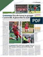 La Provincia Di Cremona 11-10-2018 - Serie B