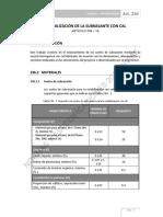 236 Estabilizacion de La Subrasante Con Cal