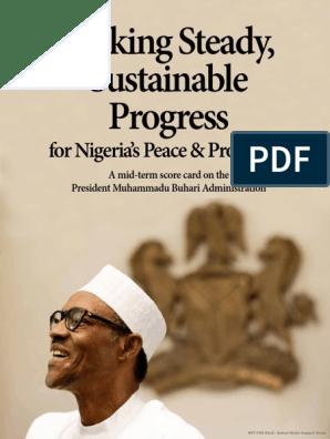 buhari admin's mid-term score card j2 (1) pdf | Fertilizer | Nigeria
