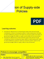 evaluation of supply-side policies