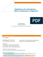 Significance for International Publication