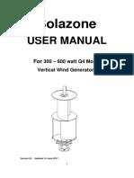 Solazone NE 300 400 Q4 Model Users Manual 2017ver02