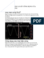 Máy hiện sóng là gì? Công dụng của máy hiện sóng