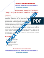 Control and Performance Analysis of a Single-Stage Utility-Scale Grid-Connected PV System