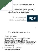 One planet economics