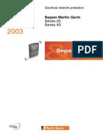 Catalog Sepam Series20&40 2003