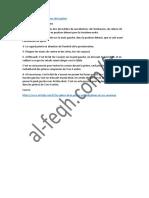 Les Actes Recommandés Lors de La Prière-Al-Feqh.com