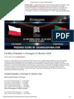 Prediksi Bola Polandia vs Portugal