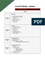 Ram Concept PT Syllabus