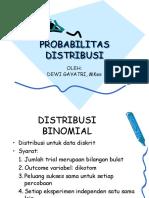 Probabilitas Distribusi