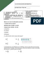 Evaluacion Sumativa de Matematica Simce 1 Ameliw