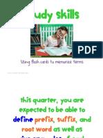 Flash Cards, Study Skills