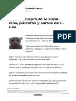 LaTeX - Capítulo 4  Espacios  párrafos y saltos de línea   El Club del Autodidacta.pdf