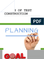 Stages of Test Construction