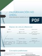 Programación No Lineal
