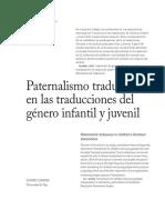Paternalismo Traductor en Las Traducciones Del Género Infantil y Juvenil