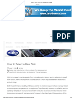 How to Select a Heat Sink _ Electronics Cooling