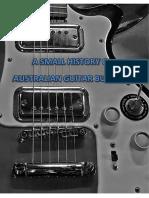 A Small History of Australian Guitar Building DRAFT