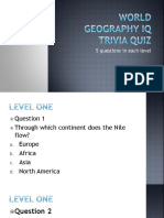 World Geography IQ Trivia Quiz